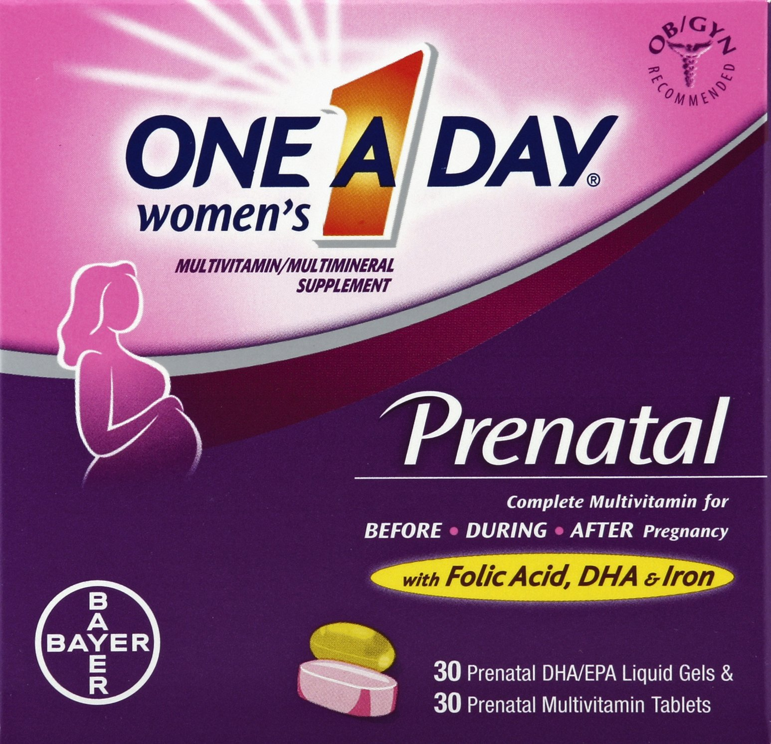 One A Day Women's Prenatal with DHA Complete Multivitamin 30 Count
